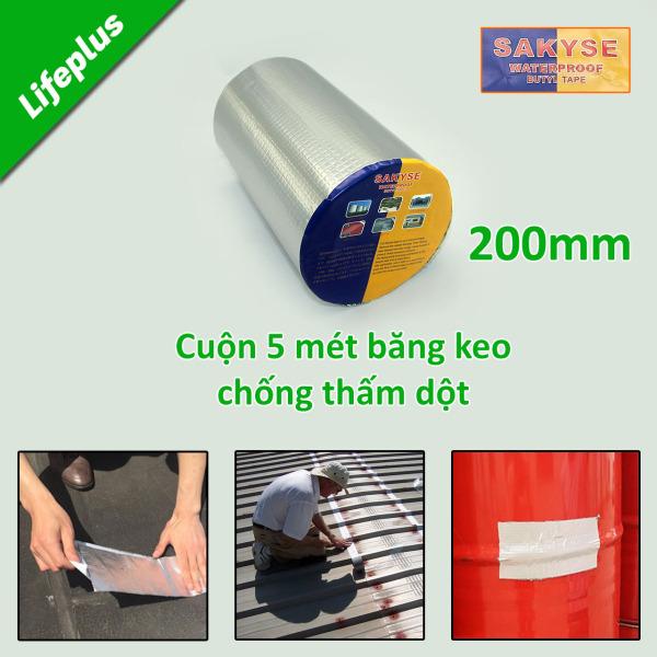 Băng keo siêu dính đa năng - Keo chống dột, chống thấm Nhật Bản SAKYSE khổ 200mm x 5m