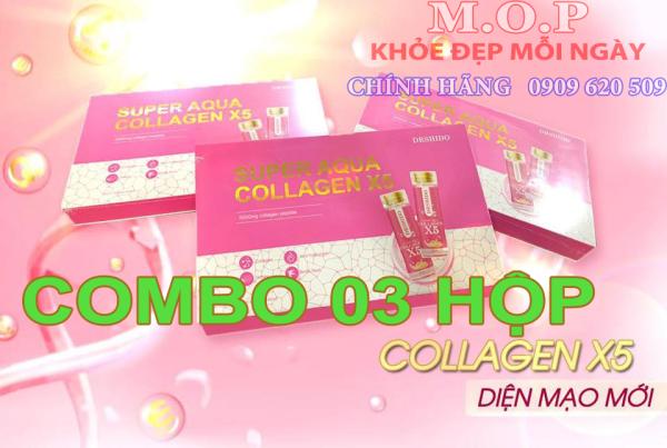 Combo 3 hộp Collagen Yến Sào Nhật Bản-COLLAGEN X5 SUPER AQUA DRSHIDO nhập khẩu