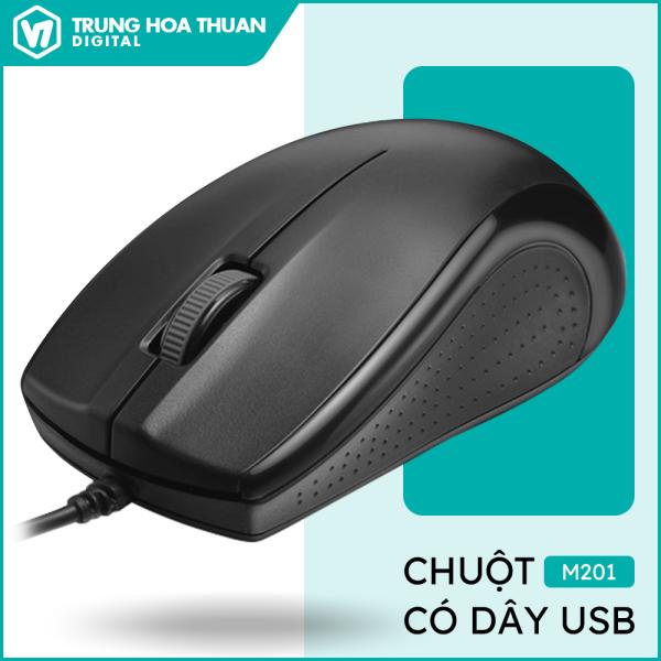 Bảng giá Chuột máy tính, chuột có dây độ phân giải 1000DPI nhanh nhạy, cầm nắm thoải mái chuột laptop, chuột gaming – BH 1 năm M201 Phong Vũ