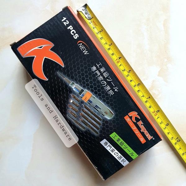 Bộ tô vít đóng tự động đảo chiều Kapusi Japan 12 chi tiết, bảo hành 12 tháng - Bộ tuốc nơ vít đóng Kapusi