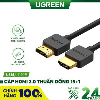 Dây cáp HDMI 2.0 UGREEN HD121 thuần đồng 19 + 1 dài 1.5m 2m - Tương thích với SmartTV, đầu DVD, Set top box, máy chiếu thumbnail