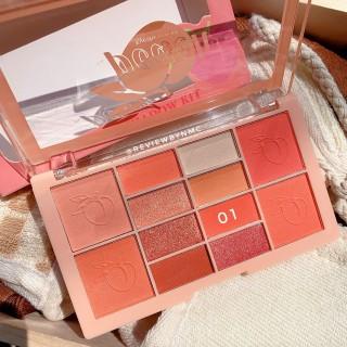 Phấn mắt Mila Peach eyeshadow Kit 12 ô kèm má hồng giao màu ngẫu nhiên siêu dễ thương thumbnail