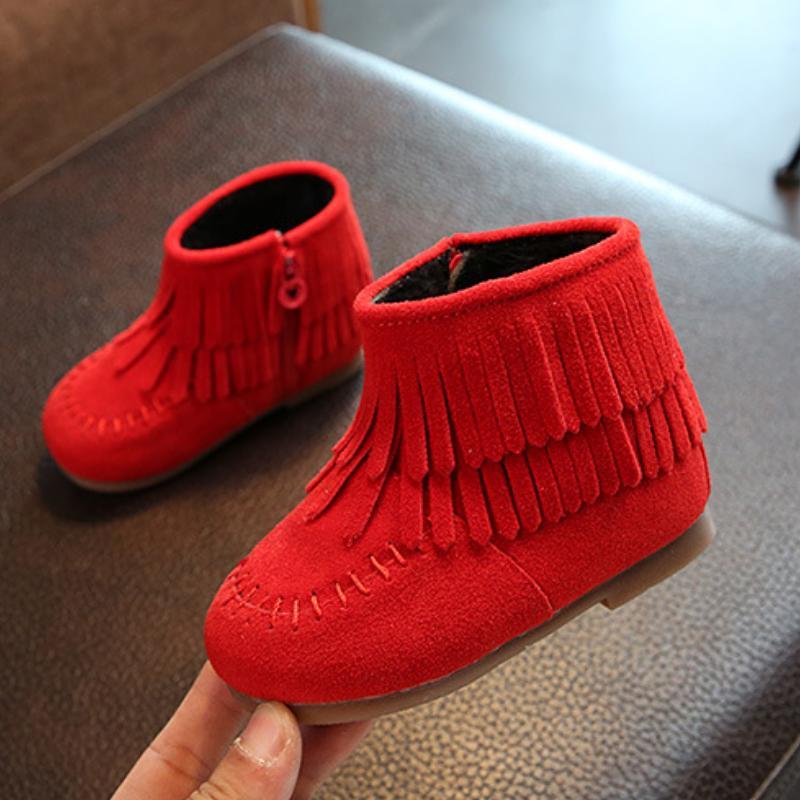 Giá bán Giày da lộn cho bé Thành Long TLG TLG20336 (Đỏ)