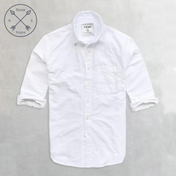 Áo sơ mi trắng nam, áo sơ mi nam  regular fit chất liệu oxford xịn