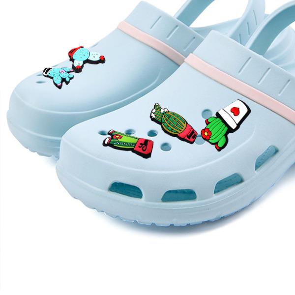 Giá bán IWHMW Giày Trẻ Em PVC Dễ Thương, Trang Trí Giày Phụ Kiện, Cây Xương Rồng Quyến Rũ Giày
