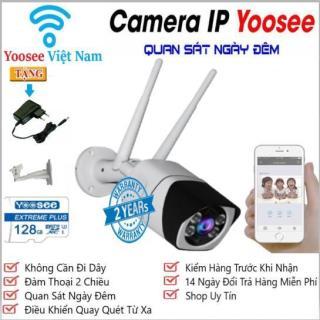 (Tặng Thẻ Nhớ CHUẨN YOOSEE 128GB)Camera IP WiFi Ngoài trời S10,Độ phân giải 2.0Mpx FullHD 1920 X 1080P,Camera KHÔNG DÂY hỗ trợ ghi âm, đàm thoại 2 chiều, lưu trữ video, chống nước cực tốt thumbnail