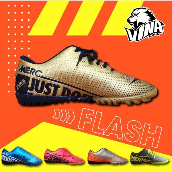 Giày bóng đá, đá banh, đá bóng mẫu ZUKA FLASH 2020 phiên bản cao cấp dành riêng cho sân cỏ nhân tạo và sân cỏ tự nhiên. Bảo hành một tháng, một đổi một nếu có lỗi từ u001dcửa hàng.