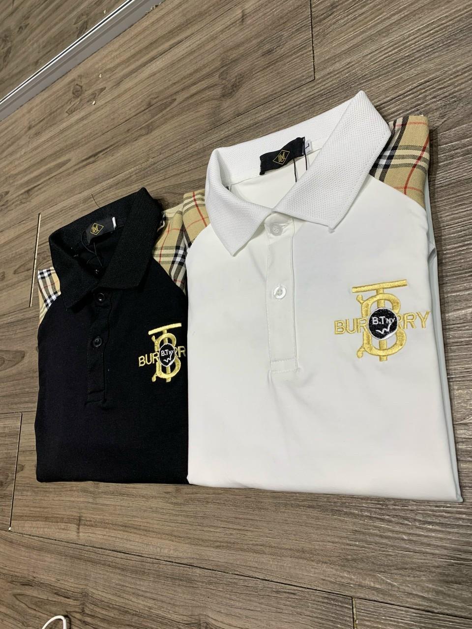 Áo thun Polo có cổ , chất liệu thun lạnh 4 chiều , phong cách thể thao, 2 màu trắng đen, full size A12