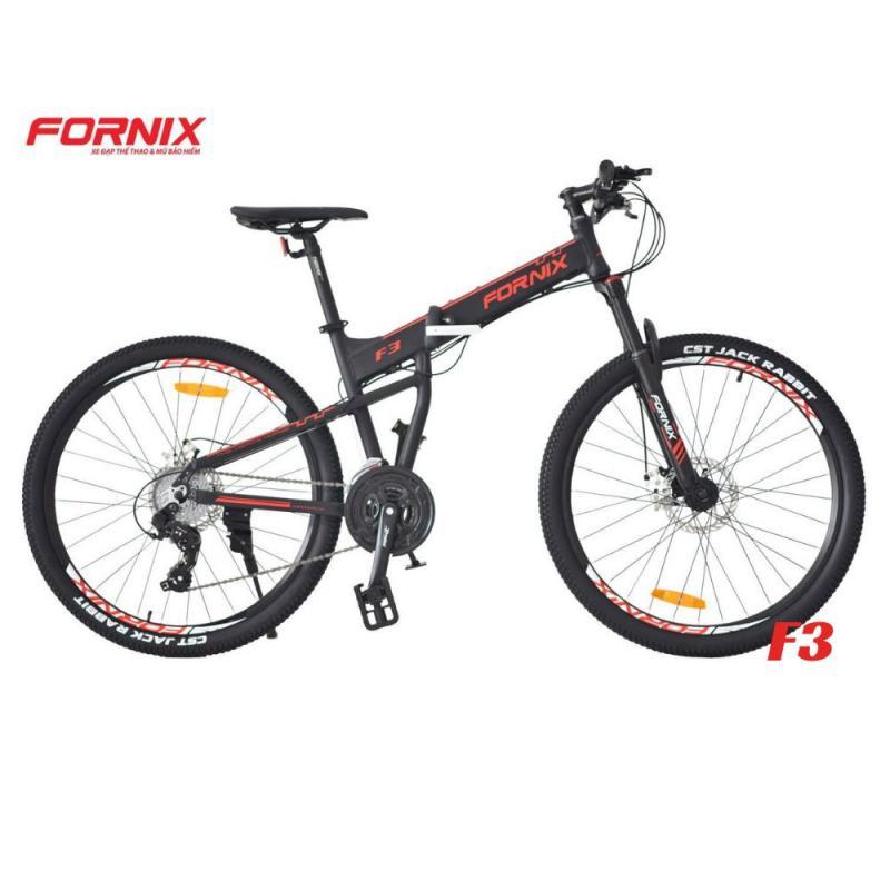 Mua Xe đạp gấp thể thao F3 màu ĐEN CHỮ ĐỎ MẠNH MẼ