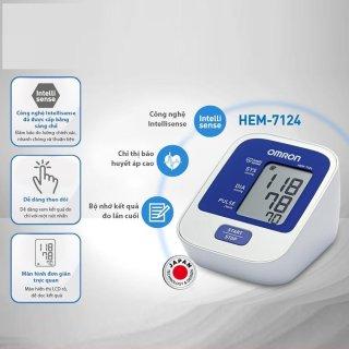 [HCM] Máy Đo Huyết Áp Tự Động HEM-7124 TIÊU CHUẨN Đo huyết áp bắp tay chính xác và thoải mái với Công nghệ IntelliSense tiên tiến. thumbnail