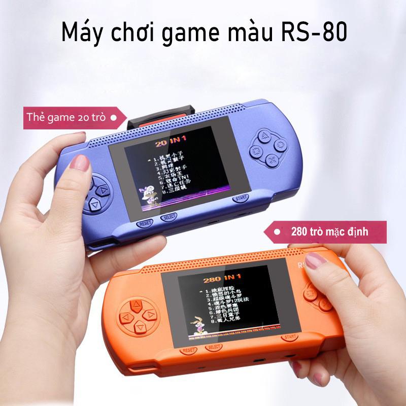 Bộ điều kiển chơi game RS-80 - Máy gamer điện tử cầm tay mini sup 300 trò chơi màn hình màu nét - Máy game điện tử 4 nút giá rẻ đồ họa đẹp hơn sup 400 in 1 - máy chơi game hay hơn bắn PUBG ff freefire lôi cuốn