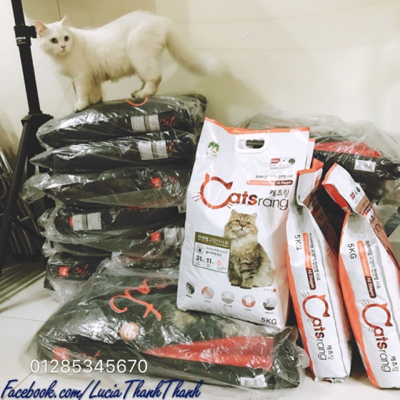 Thức ăn khô cho mèo Cats rang 5kg