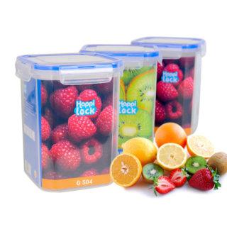 [SALE XẢ KHO] Hộp nhựa vuông đựng thực phẩm Happi Lock 1200ml - Hộp đựng thực phẩm tủ lạnh nắp gài 4 cạnh - chất liệu an toàn cho người sử dụng thumbnail