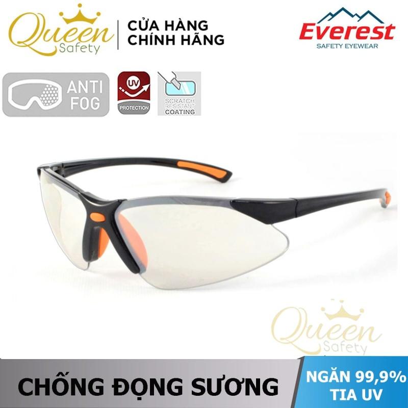 Kính bảo hộ Everest EV303 kính chống bụi, chống trầy xước, chống tia UV-UB, chống đọng sương (trắng tráng bạc) - Bảo hộ Thinksafe