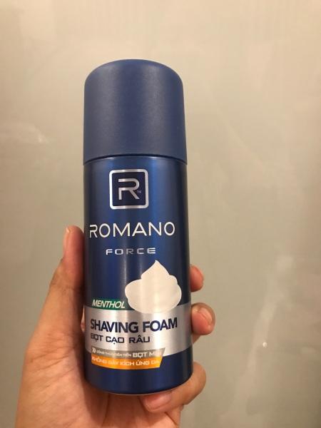 Bọt cạo râu Romano Classic 175ml (xanh dương)