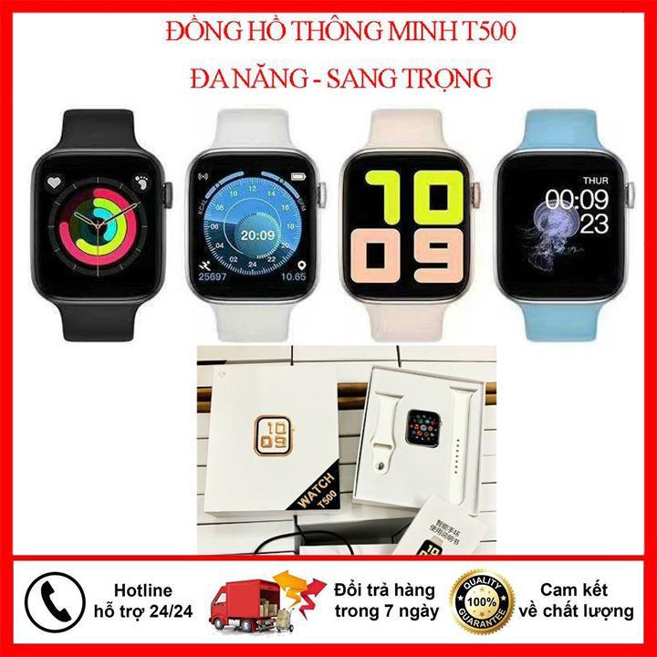 Đồng Hồ Thông Minh 💕 Watch 5,t500, seri 6 Cảm Ứng Nghe Gọi Trực Tiếp 💕 Thay Đổi Hình Nền Theo Dõi Sức Khỏe , Chống nước IP67, kết nối Bluetooth,BH 12THANG, loi1 doi 1.FREE SHIP TOÀN QUỐC