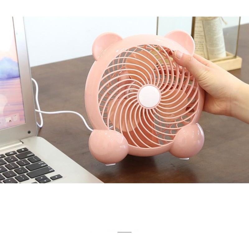 Quạt hộp USB mini có tai để bàn làm việc
