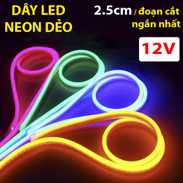 Bảng giá 1 mét dây đèn led neon ngoài trời, điện áp 12v, 2,5cm một lần căt, uốn chữ quảng cáo đa dạng
