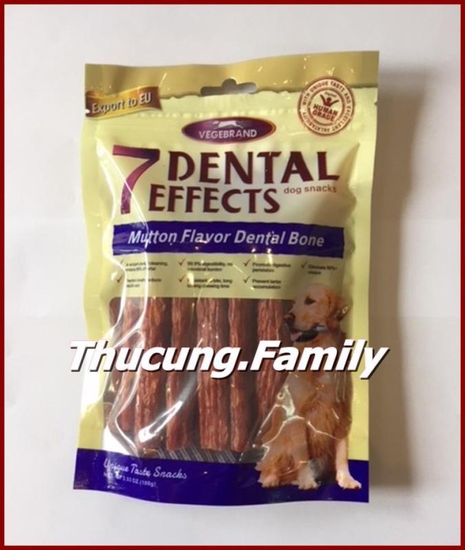 Bánh thưởng hổ trợ tiêu hóa, làm sạch răng cho hơi thở thơm tho dành cho Chó. 7Dental- 100g/gói.