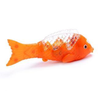 Đèn lồng cá chép - Lồng đèn chơi trung thu - Cá chép phát sáng có nhạc - Dài 23cm thumbnail