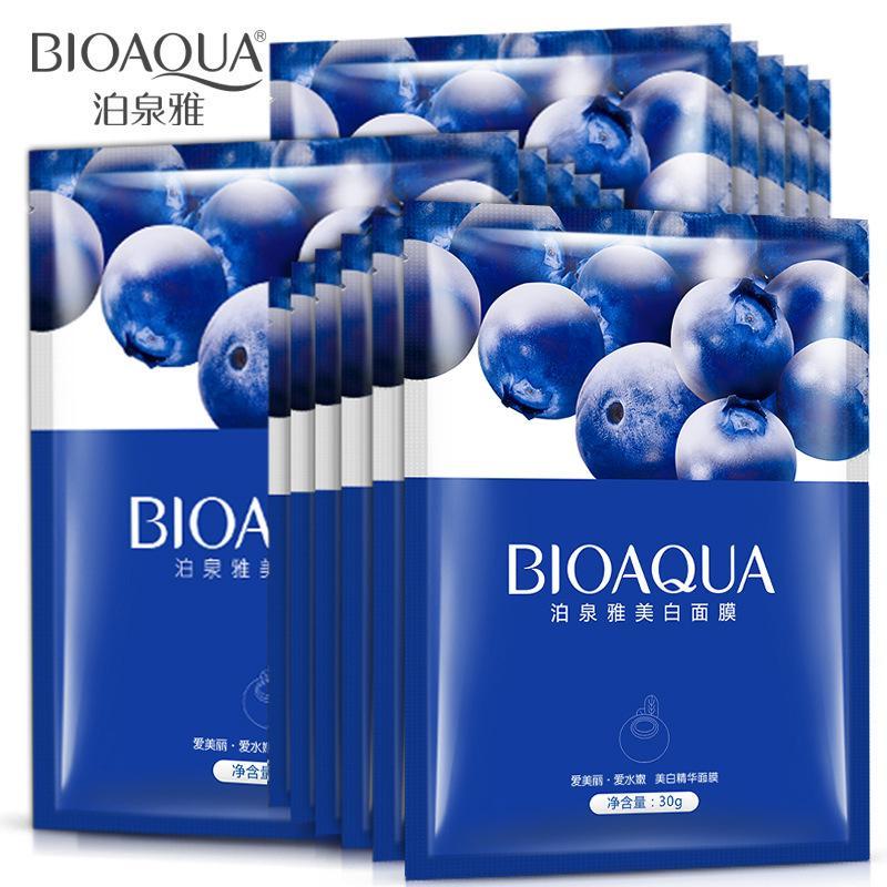 Combo 10 miếng mặt đắp Bioaqua Việt Quất giúp tái tạo da, dưỡng da trắng hồng rạng rỡ nhập khẩu