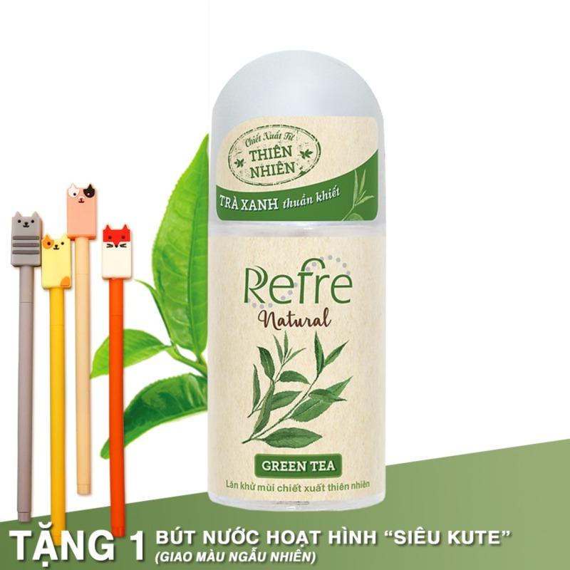 Lăn Khử Mùi Refre Natural Green tea Hương trà xanh 40ml cao cấp