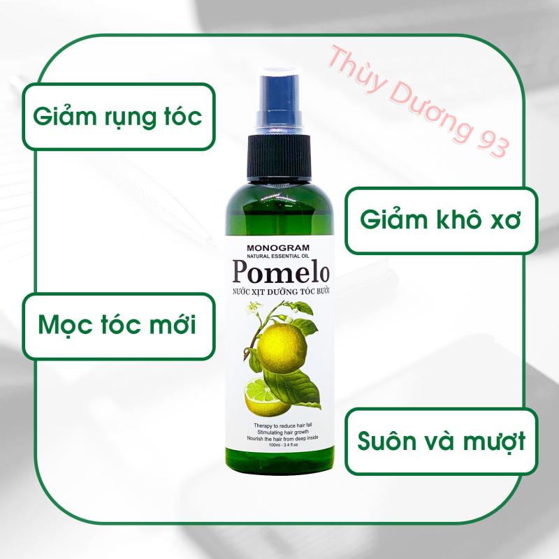 Nước xịt dưỡng tóc tinh dầu bưởi Pomelo 100ml giúp giảm rụng tóc*, giúp tóc dài và dày hơn nhập khẩu