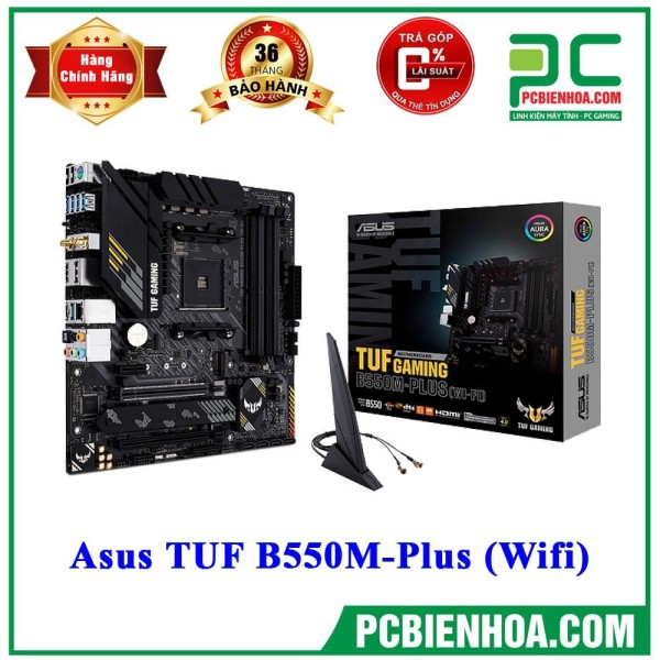 Bảng giá [Trả góp 0%]Mainboard Asus TUF B550M-Plus (Wifi) ( AM4 / M-ATX / 4xDDR4 ) Phong Vũ