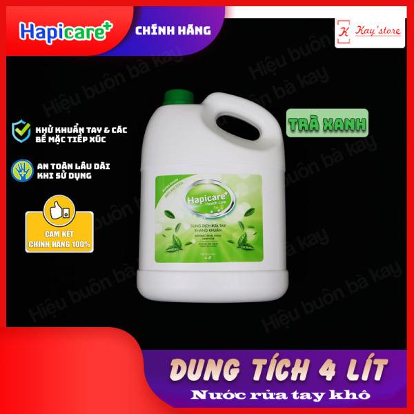Can khử khuẩn HapiCare+ (4 Lít) / Dung dịch rửa tay sát khuẩn / Nước khử khuẩn / Xịt rửa tay khô