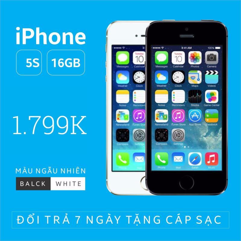 Điện thoại smart phone giá rẻ IPHONE 5S - 16GB phiên bản quốc tế - Chính hãng Apple - Bao đổi trả không điều kiện (Màu ngẫu nhiên trắng/đen) - Tặng cáp