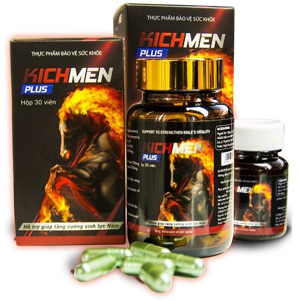 Viên uống Kichmen Plus – Hỗ trợ tăng cường sinh lực nam giới (Hộp 30 viên)