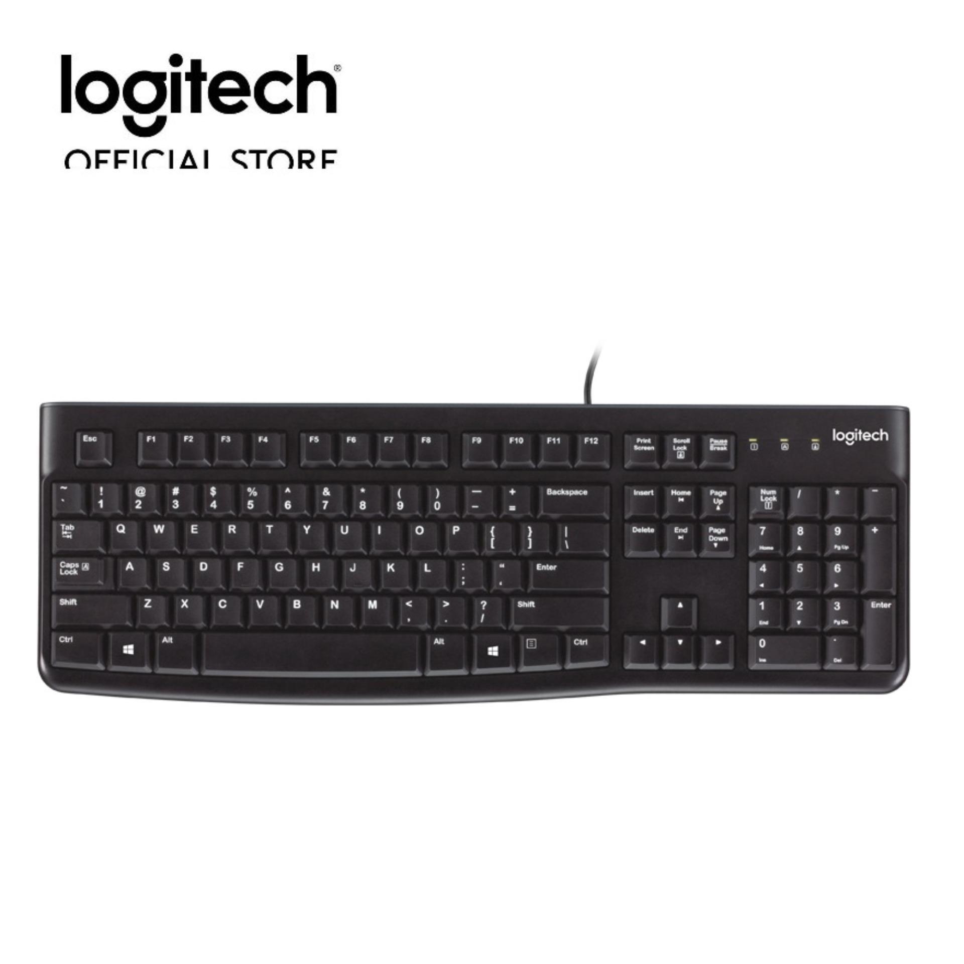 Offer Ưu Đãi Bàn Phím Có Dây Logitech K120 (Đen)