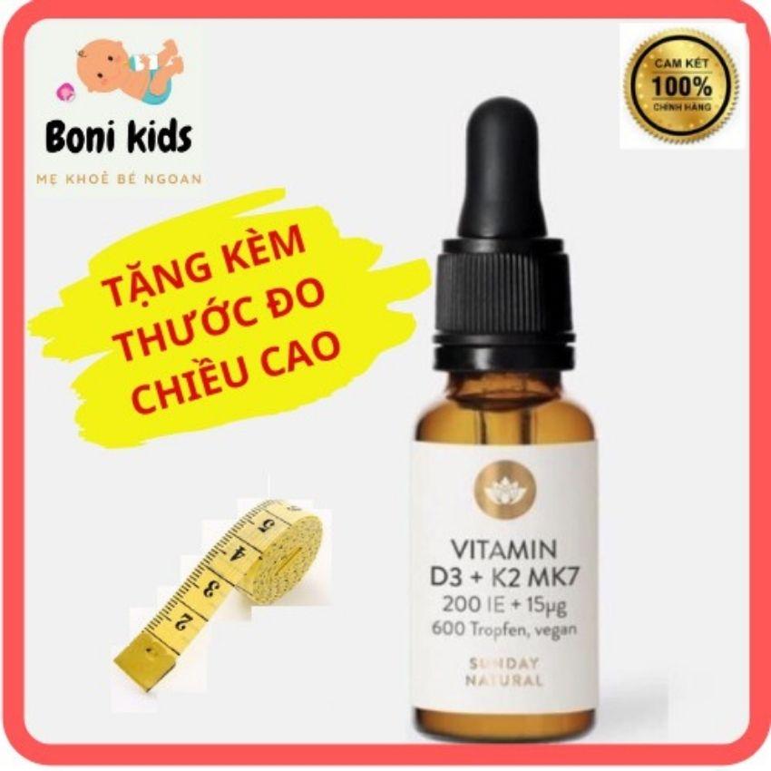 Vitamin D3 K2 MK7 đức Sunday Natural 20ml Cho trẻ từ sơ sinh hỗ trợ hấp thụ canxi cho bé tăng chiều cao dạng Nhỏ Giọt tiện lợi freeship trả bill