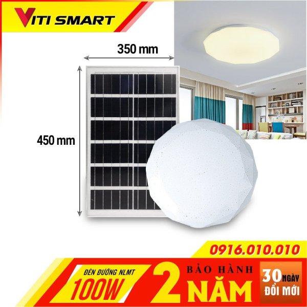 Bảng giá Đèn năng lượng mặt trời ốp trần trong nhà 100w - 200w Cảm biến ánh sáng tự động bật sáng khi trời tối và tắt đèn khi trời sáng.