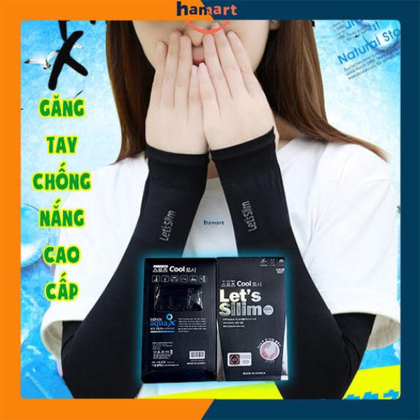 Bao Tay Chống Nắng Lets Slim Made In Korea Găng Tay Chống Nắng Nóng Mùa Hè Thoáng Khí Chống UV LOẠI 1