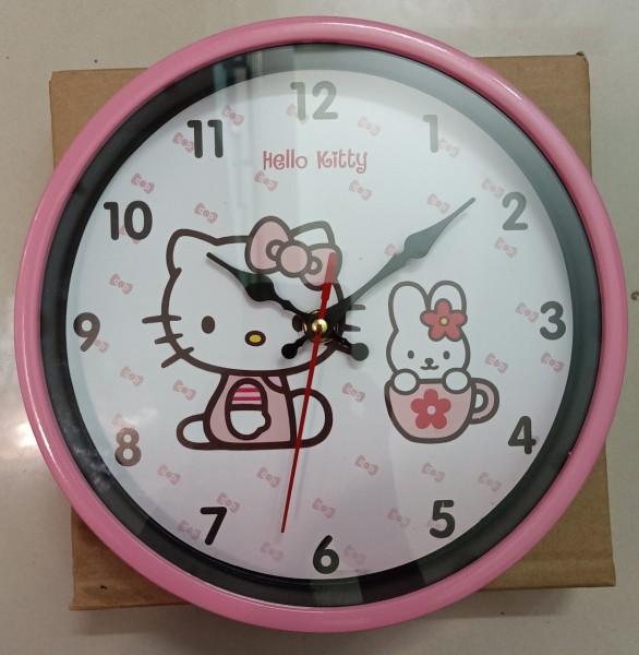 Nơi bán Đồng Hồ Tròn Treo Tường Màu Hông 22cm Kim Giật In Hình Hello Kitty