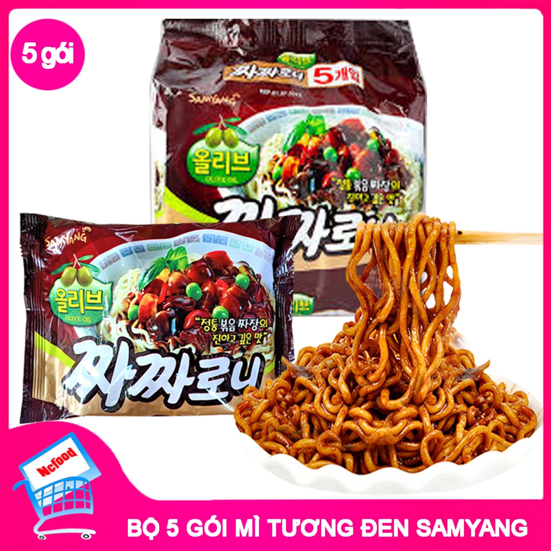 Mì Tương Đen Hàn Quốc Samyang 200gr ( Lốc 5 Gói) (NCFOODVN) Giá Rẻ Bất Ngờ