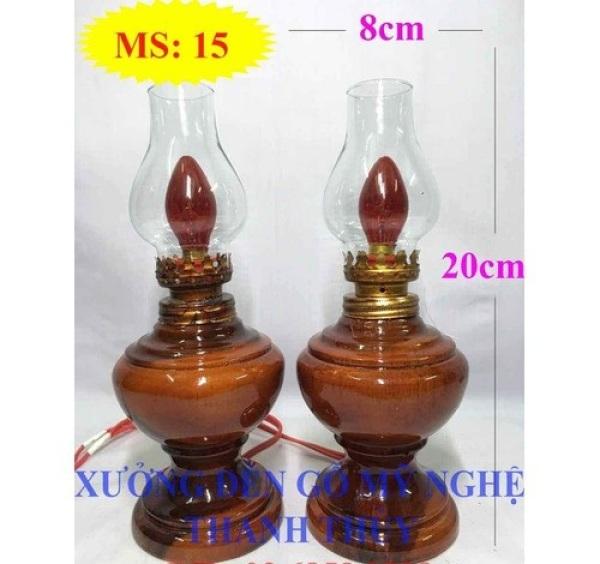 Bảng giá đèn thờ đèn điện thờ đèn thờ gỗ tràm 15