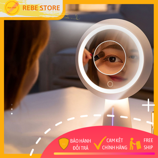 Đèn bàn kiêm gương trang điểm Remax RL-LT16 dễ dàng điều chỉnh độ sáng, trang bị thêm gương cầu phóng đại