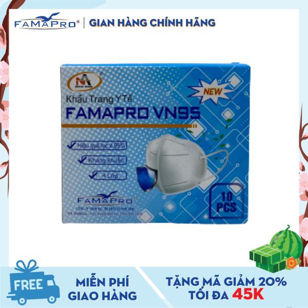 Khẩu trang y tế 4 lớp Famapro VN95 màu trắng (10 cái / Hộp)