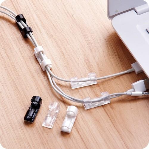 Bộ 20 dụng cụ kẹp chặn giữ dây điện nhỏ (trong suốt)