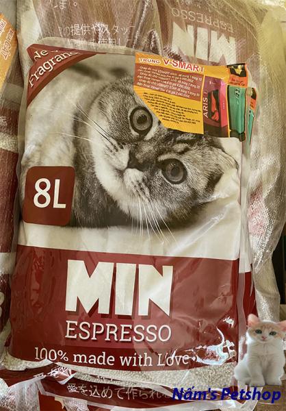 Cát vệ sinh cho mèo Min 8L mùi đậm đà