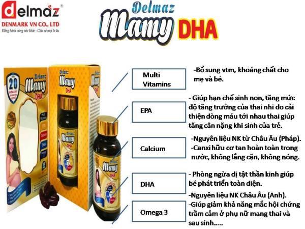 Delmaz Mamy DHA: Tăng Cường Sức Khỏe cho Mẹ và Bé