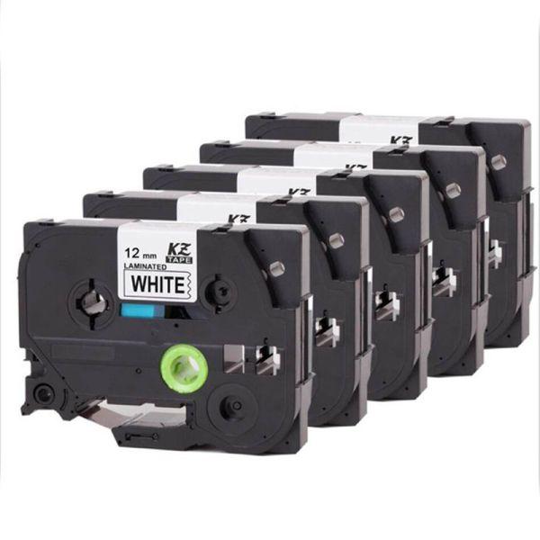 Mua 5PCS/Pack Laminated ribbons Tze 231 tz231 tze231 Tape 12mm Black on White laminated Tape tze-231 tz-231 for Brother P-touch Printer label tape