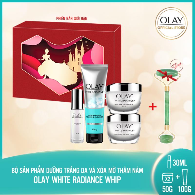 [Pre-sale] Trọn bộ 4 sản phẩm dưỡng da trắng sáng rạng rỡ Olay White Radiance Light Perfecting nhập khẩu