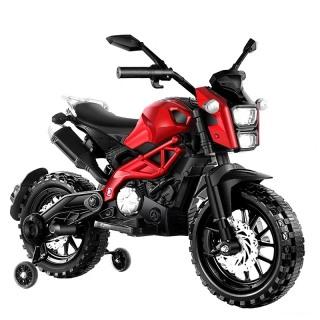 Xe máy điện moto 3 bánh DLS01 đồ chơi cho bé vận động đạp ga bản thể thao (Đỏ-Trắng) thumbnail