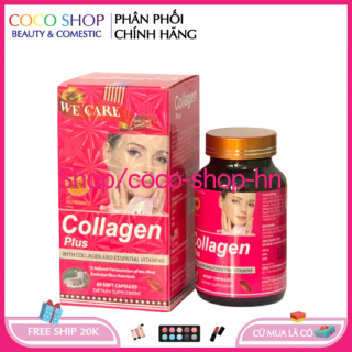 Viên uống đẹp da Collagen Plus giảm thâm nám tàn nhang, ngừa nếp nhăn, chống lão hóa trẻ hóa làn da trắng da , chống lão hóa - giúp giảm nám da, Hộp 60 viên HSD 2023 - chuẩn GMP thumbnail