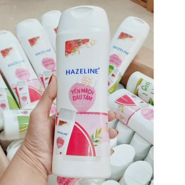[HCM]Sữa Tắm Sáng Da Hazeline Yến Mạch Dâu Tằm -300g- Hàng KM