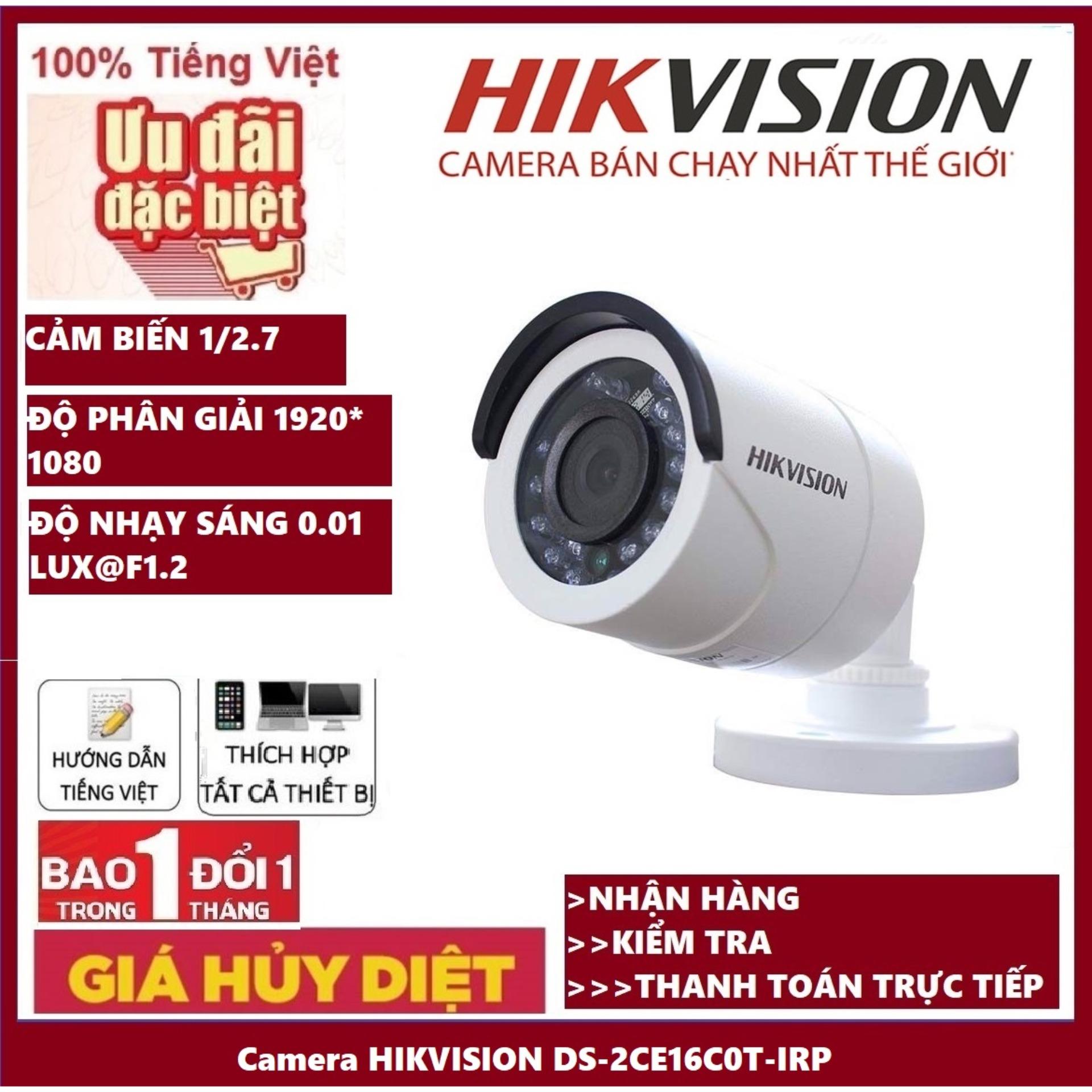 [BẢO HÀNH 24 THÁNG] Camera HIKVISION DS-2CE16C0T-IRP 1.0Mp – Camera giám sát an ninh