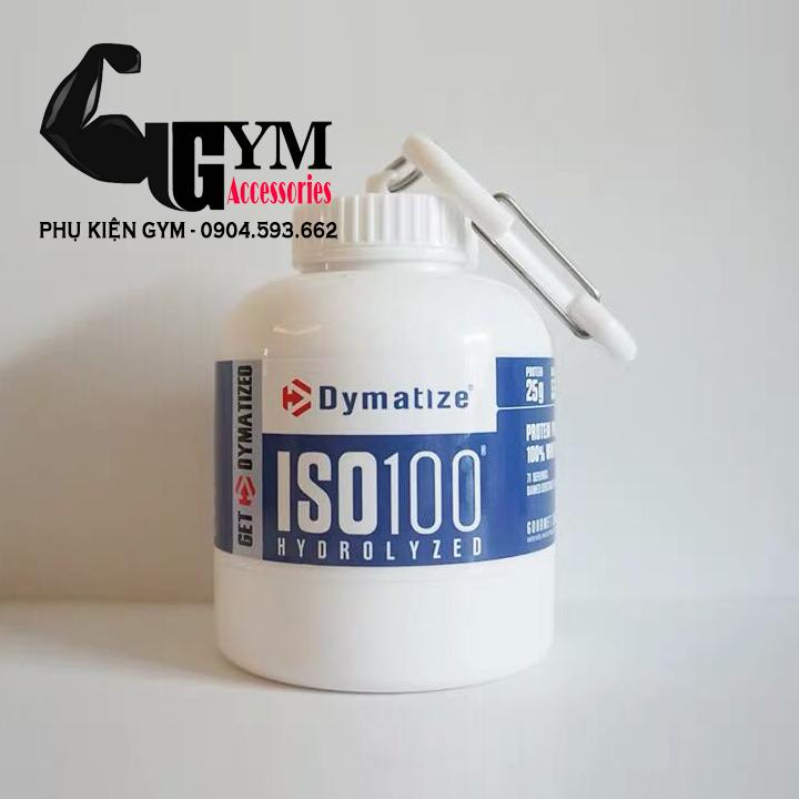 Hộp đựng whey, mass, bcaa Ishake Protein Funnel Dymatize Iso 100 Nhật Bản
